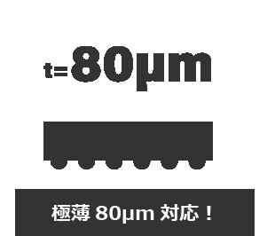 極薄80µm対応!
